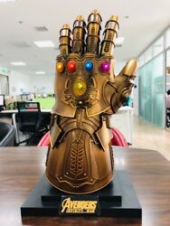 Hcmy Thanos Infinity Gauntlet Full Metal 11 Wearable Cosplay Statue Led Instock