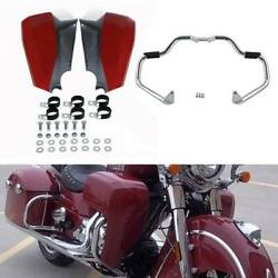 Red Lower Fairing Assembly Mustache Crash Bar Fit For Indian Chieftain 2014-2020