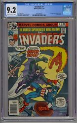 Invaders 7 Cgc 9.2 1st Union Jack And Baron Blood