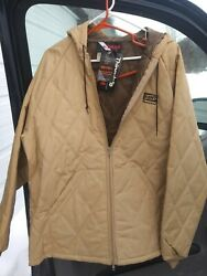 Wiman Men's Xl Work Jacket Kent Feeds Tan Thinsulate Zepel Stain Protected Nwt