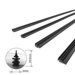 2pcs 26 6mm Cut To Size Universal Van Car Replacement Rubber Wiper Blade Refill