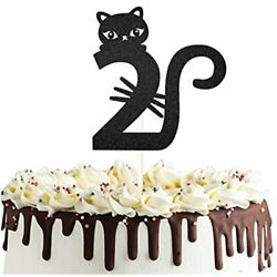 Two Year Old Kitty Cat Cake Topper For Happy Second BirthdayBaby Shower 2nd