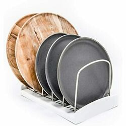 Adjustable Pot Lid Organizer For Kitchen Cabinets Counter Tops Store Bake Ware