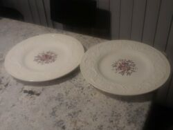 Set Of 2 Swansea Wedgwood Patrician Dinner Plate-england- Replacement-euc