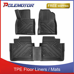 Set Front+rear Tpe Rubber Floor Mats Liners For 2017-2021 Mazda Cx-5 All Weather