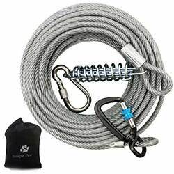 Dog Runner Tie Out Cable For Dogs Up To 250 Lbs 30ft Dog Lead Line Run Leash