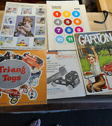 Rare Toy Dealer Catalogs With Price List Tri-ang,gabriel,garton,tops In Toys