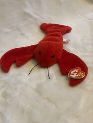 Rare Ty Beanie Baby Pinchers Retired 1993 4th Generation Tag Errors Near Mint