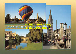 L069032 Stamford Scenes. Ballooning From The Meadows. Dt. Mary Hill And Town Bri