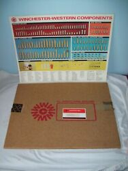 Scarce Winchester Western Pop Up Component Store Display Chart 27 1965