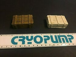 2-1/4 X 1-1/2 Resin Wooden Ammo Crate For Dioramas Doll Houses Train Layouts