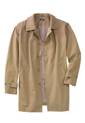 Kingsize Menand039s Big And Tall Water-resistant Trench Coat