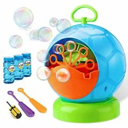 Fansteck Bubble Machine - For Kids With 3 Bottles Of Solution And 2 Hand Wands