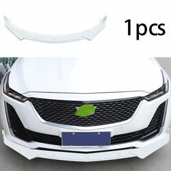 Front Bumper Lip Spoiler Bodykit Refit Abs White Fit For Cadillac Ct5 2019-2020