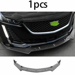 Front Bumper Lip Spoiler Bodykit Refit Abs Gray Fit For Cadillac Ct5 2019-2020