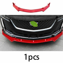 Front Bumper Lip Spoiler Bodykit Refit Abs Red Fit For Cadillac Ct5 2019-2020