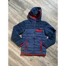 Columbia Insulated Jacket Mens Sz S Blue And Red