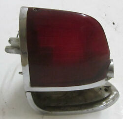 1954-1956 Cadillac Rh Tail / Reverse Light Housing 5942122 And Red 54-55 Lens Orig