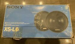 Vintage Sony Xs-l6 6.5 Polymer Laminate Cone Woofer Set In Box Made In Japan