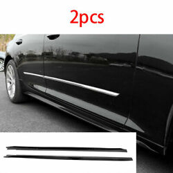 Exterior Door Panel Trim Side Skirts 2x Abs Black Fit For Cadillac Ct5 2019-2020