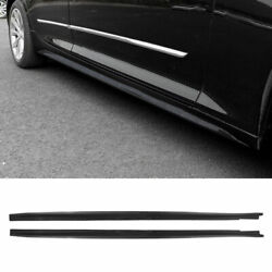 Exterior Door Panel Trim Side Skirts Abs Carbon Fiber For Cadillac Ct5 2019-2020