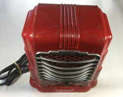 Vintage 1940andrsquos Arvin Space Heater Works Red Chrome