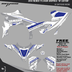 Yfz450r Graphics 2014-newer Dfr Df Edition Gray White Blue Sides Fenders