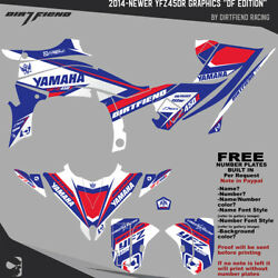 Yfz450r Graphics 2014-newer Dfr Df Edition Red White Blue Sides Fenders