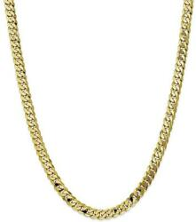22 10k Yellow Gold 6.75mm Flat Beveled Curb Chain Necklace