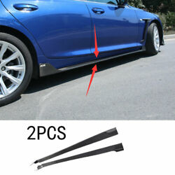 For 2019-2020 Cadillac Ct5 Real Carbon Fiber Side Skirts Extension Spoiler Lip