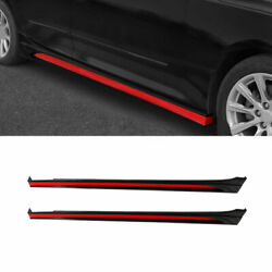 For 2019-2020 Cadillac Ct5 Black Red Car Exterior Door Panel Trim Side Skirts