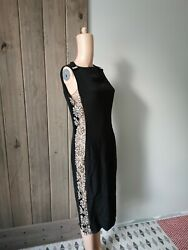 Azzaro Side Cut Out Crystal Dress Red Carpet Sz Fr40