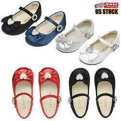 Kids Girls Toddlers Casual Mary Jane Flats Shoes Princess Dress Party Shoes Us