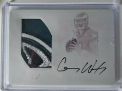 Carson Wentz 2016 National Treasures Rpa Auto 4 Color Printing Plate 1/1 Colts