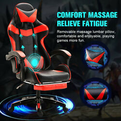 Luxury Gaming Chair Office Racing Massage Chair 360anddeg Swivel Computer Desk Chair