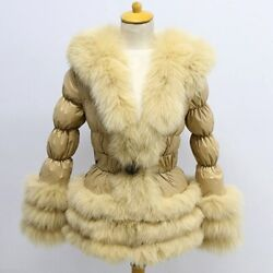 Factory Wholesale Winter Down Coat Europe Women Real Fox Fur With Puffer Jacket