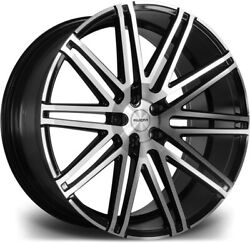 Alloy Wheels 22 Riviera Rv120 Black Polished Face For Audi Q5 [fy] 18-20
