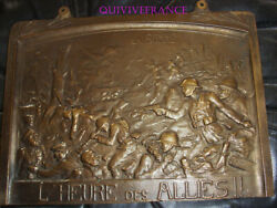 Tb506 - Plate Bronze The Somme Land039heure Of Allied By Louis Octave Mattei