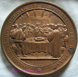 Med9943 - Medal Premier Synode National Of Churches Reformees 1859 By Bovy