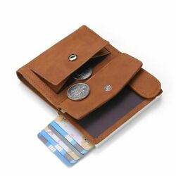 Rfid Genuine Leather Wallet Card Holder Slim Thin Smart Credit Coin Purse Id