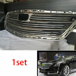 For Cadillac Ct6 2016-2018 Chrome Car Front Center Mesh Grille Grill Cover Trim