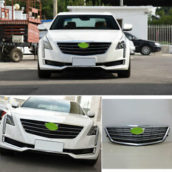 For 2016-2018 Cadillac Ct6 Silver Car Front Center Mesh Grille Grill Cover Trim