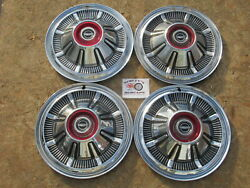 1966-77 Ford Pickup Truck, Bronco 15 Wheel Covers, Hubcaps, Set Of 4 Oem