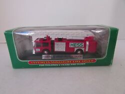 Hess 1999 Miniature Fire Truck Boxed With Display Works Lotd