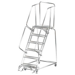 Ballymore Rolling Ladder Capacity 450 Lb Height 93 In. Stainless Steel