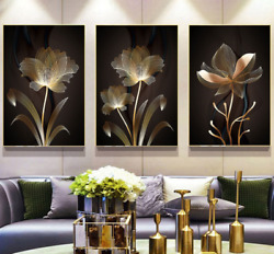 Minimalist Abstract Line Flower Painting On Canvas Posters And Prints Wall Art