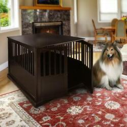 Large Dog Crate Xl Indoor Pet Kennel End Table Stand Dog House Solid Wood Cage