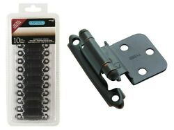 Amerock Tenr3428orb Self-closing Face Mount 3/8and039and039 Oil Rubbed Bronze Hinge 10pk