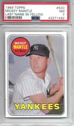 Mickey Mantle 1969 Topps Psa 7 Well Centered Killer Eye Appealiconic Card