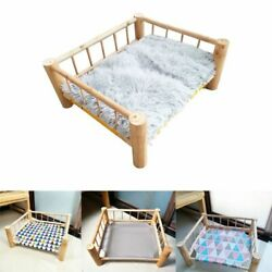 Pet Wood Bed Camp-bed Solid Wooden Kennel Removal Cat Sofa Temperature Control